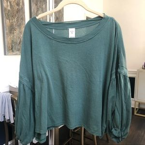 Free people dark green cropped top